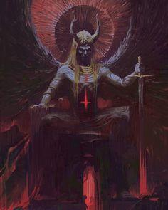 Trickster — thecollectibles:Art by Harshanand Singh fantasy art Trickster Dark Fantasy Art, Fantasy Kunst, Arte Horror, Horror Art, Art Sinistre, Satanic Art, Arte Obscura, Demon Art, Occult Art