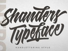 Shanders – Hand Lettering Fonts designed by Dirtyline Studio. This is an ideal typeface for you to make your projects more impressive and outstanding! Perfect for product packaging, header, logos, handwritten quotes, poster, merchandise, social media & greeting cards and many more. Check it out and enjoy!