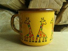 Enamel Mug Cup Animal Lovers Gift Garden Camping by SMALTUM for Enamel Cottage