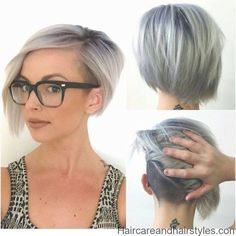 Be bold, make a statement with the shaved bob hairstyles. Women's hairstyles with a shaved patches on one side are the latest trend in hip hop and jazzy. Shaved Bob, Short Shaved Hair, Bob With Shaved Side, Shaved Hair Women, Shaved Sides, Hair Colorful, Bob Haircuts For Women, Edgy Haircuts, Short Inverted Bob Haircuts