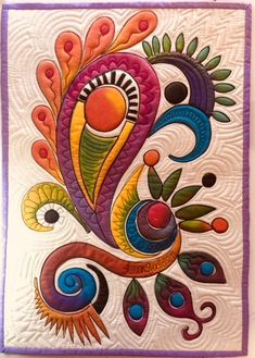 Helen Godden Quilts added a new photo. Applique Patterns, Applique Quilts, Quilt Patterns, Fabric Painting, Fabric Art, Cotton Fabric, Quilting Projects, Quilting Designs, Diy Quilt