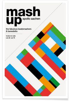 Mashup Party als Premium Poster von Stephan Kochs   JUNIQE