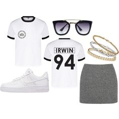 Irwin Shirt by sam-isabella on Polyvore featuring T By Alexander Wang, NIKE and Topshop