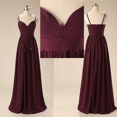 Elegant Handmade Long Sweetheart Straps Simple Prom Dresses, Long Prom Gowns, Bridesmaid Dresses, We on Luulla