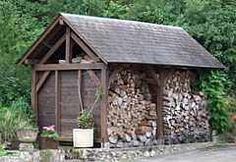 1/2 firewood 1/2 garden tool shed