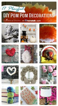 17 Playful DIY Pom Pom Decorations - Cupcakes and Crinoline