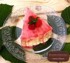 Tort de inghetata cu zmeura Cream Recipes, Watermelon, Fruit