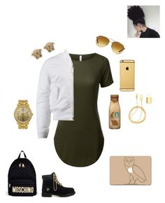 """""""Half day of school today"""" by mindless-loyalty2 on Polyvore featuring Moschino, Alpha Industries, Piaget, PhunkeeTree, Versace, Michael Kors, Goldgenie, 3M and WALL"""