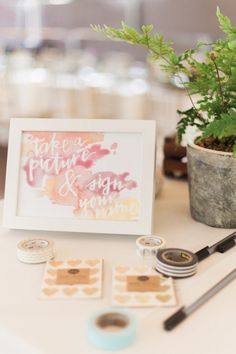 What better way to remember all the guests that attended your wedding?! // Wedding planner was Grit + Gold. #bridesofnorthtx #wedding #polaroid #photos #guestbook