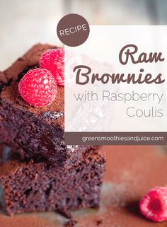 "Have you ever made raw brownies? They're a revelation. The very first ""raw"" recipe I ever tried was a raw brownie and it changed my view of indulgences forever.  #vegan #rawvegan #dessert"