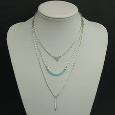 Chic Faux Crystal Beads Decorated Multi-Layer Necklace For Women