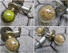 On Sale Now! 1960u0027s Redecorating? Fabulous Lucite Door Knob Sets Gold  Flake. CreeksideCharms