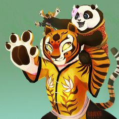 """alex-does-the-arts: """" Tigress and Lei Lei from Kung Fu Panda 3!! """""""