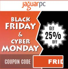 Hello ! On this Black Friday & Cyber Monday we have JaguarPC coupon help you save 25% on any hosting…