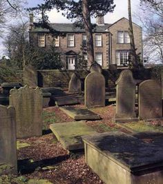 Bronte Parsonage and cemetery, Haworth, Yorkshire, England. It's just what you'd think Wuthering Heights should look like. Yorkshire England, West Yorkshire, Emily Brontë, Bronte Parsonage, Bronte Sisters, Wuthering Heights, England And Scotland, Destinations, British Isles