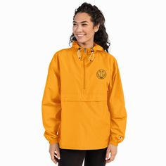 Protect yourself from the elements with this Champion packable jacket. This wind and rain resistant polyester jacket with a detailed … Hapkido, Online Assistant, Champion Jacket, Champion Brand, Packable Jacket, Half Zip Pullover, Manga, Boho, Hooded Jacket