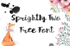 DLOLLEYS HELP: Sprightly Two Free Font