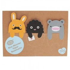 adorable!! Noodoll Girls Rice Monster Paper Bookmarks | AlexandAlexa