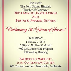 Congrats to #KernCounty Hispanic Chamber of Commerce on 30 years of supporting local businesses. CCS is proud to be a member.