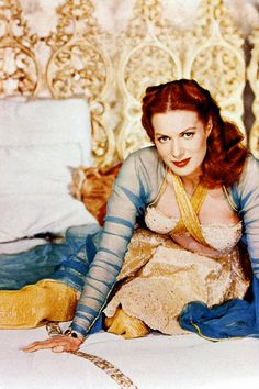 Maureen O'Hara in a promotional photo for Flame of Araby (1951)
