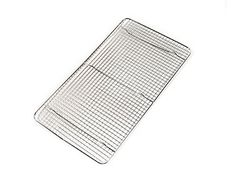 CrossWire Grid Cooling Rack Wire Pan Grate Baking Rack Icing Rack Chrome Plated Steel Rectangle Shape 6Raised Feet Commercial Quality Full Size  10 x 18 Inches by The Cooks Connection -- Read more  at the image link.Note:It is affiliate link to Amazon.