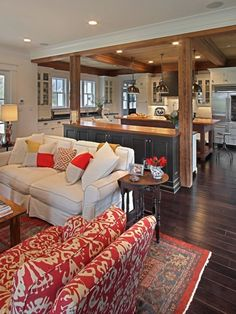 Nice open kitchen and family room