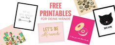 Frischer Look für Zuhause! Hey Pretty trägt fünf Sites zusammen, wo du tolle «free printables», also Bilder gratis herunterladen und ausdrucken kannst.