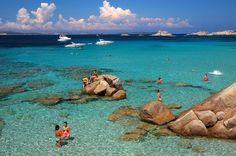 The Maddalena Archipelago is a small string of islands on Sardinia's northern coast Maddalena Archipelago, Hidden Beach, Old Port, Sardinia Italy, Far Away, Travel Destinations, To Go, Coast, Adventure