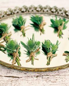 Green Wedding Boutonnieres // Photo by Jose Villa