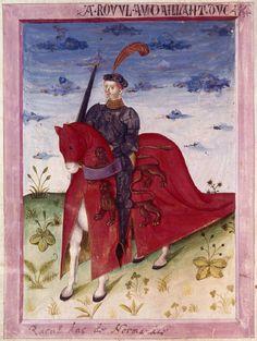 Raoul, duc de Normandie, Armorial de Gilles le Bouvier (BNF)