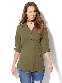 Shop Soho Soft Shirt - Hi-Lo Tunic. Find your perfect size online at the best price at New York & Company.