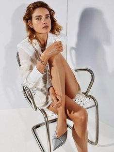 Supermodel Natalia Vodianova is styled by Morgan Pilcher in white and silver for 'Sur Tous Les Fronts', lensed by Alique for Porter Magazine Spring 2018. https://www.anneofcarversville.com/style-photos/2018/3/16/natalia-vodianova-is-lensed-by-alique-in-sur-tous-les-fronts-for-porter-magazine-spring-2018
