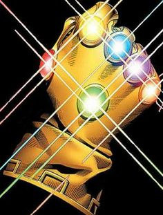 The Infinity Gauntlet when equipped w/ all six Infinity Gems grants the user power over time, space, strength, souls, mind and reality. Marvel Comics Art, Marvel Comic Universe, Comics Universe, Marvel Cinematic Universe, Infinity Watch, Infinity Gems, Marvel Infinity, Marvel Studios Movies, Marvel Movies