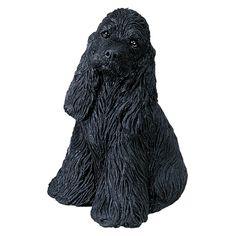 Sandicast Mid Size Black Cocker Spaniel Sculpture - MS202