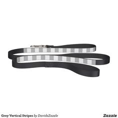 Grey Vertical Stripes Dog Leash on Zazzle @zazzle #zazzle #dog #leash #necessities #pet #pets #dogs #buy #shop #shopping #chic #grey #gray #stripes