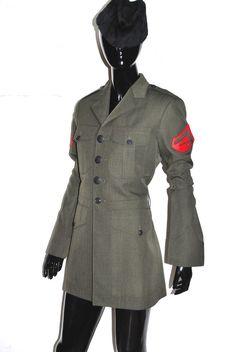 VINTAGE MARINE LANCE CORPORAL Uniform Jacket Blazer 37 gay trans Patricia Field #Army #BasicJacket