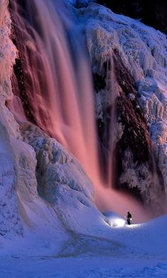Frozen Montmorency Falls, Quebec, Canada (by Spacewil on Flickr)