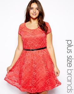 New Look Inspire   New Look Inspire Sweetheart Neckline Lace Dress at ASOS