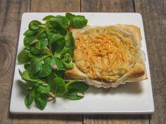deftig, vegane Tartelettes mit Räuchertofu und Sauerkraut