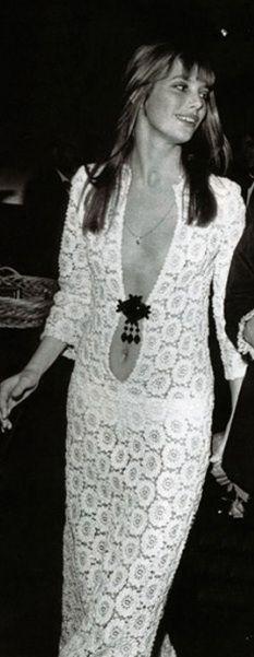 Jane Birkin crochet wedding dress