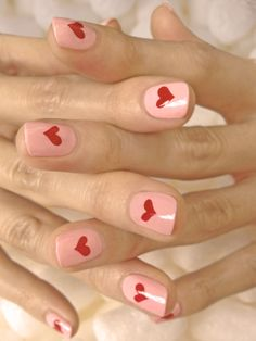 Loving this sweet Valentine's Day mani by JINsoon using Muse and Coquette. #SephoraNailspotting #nails #manicure