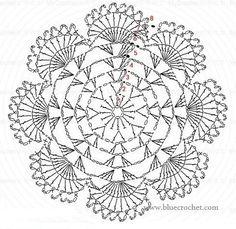 Crochet Bolero Pattern, Free Crochet Doily Patterns, Crochet Coaster Pattern, Modern Crochet Patterns, Crochet Circles, Crochet Diagram, Crochet Squares, Crochet Doilies, Thread Crochet