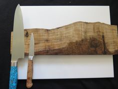Magnetic knife holder 16 Curly American Crotch Walnut by EEKnives