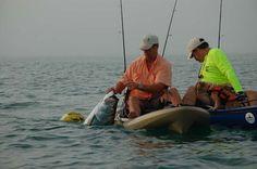 A Day at the Beach tarpon kayak fishing