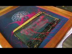 248creative.com Splatter Printing; A FreeScreen Live Screen Print Technique