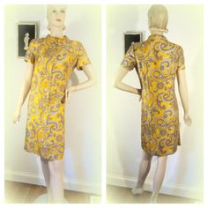 Sheath Paisley Silk Dress