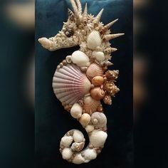 Seashell Painting, Seashell Art, Seashell Crafts, Seashell Decorations, Decorating With Seashells, Crafts With Seashells, Sea Decoration, Easy Decorations, Sea Crafts