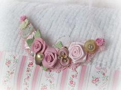 Sweet Pink ROSEs Elegant Statement Bib Necklace by RoseChicFriends, $25.99
