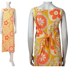 1970's Floral Print Wrapped Sundress from The Vintage Genie on RubyLane.com