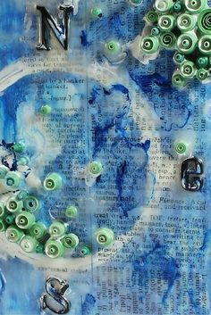 A Nautical Encaustic piece using tissue wrap, quilling paper pieces and oil paint.  http://bit.ly/1TaUmp1 (scheduled via http://www.tailwindapp.com?utm_source=pinterest&utm_medium=twpin&utm_content=post19617510&utm_campaign=scheduler_attribution)
